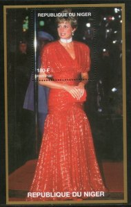 Niger MNH S/S Princess Diana In Fancy Red Dress 1997