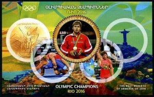 HERRICKSTAMP NEW ISSUES ARMENIA Sc.# 1099 Rio 2016 Olympic Champ S/S