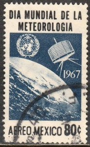 MEXICO C323, World Meteorological Day Tiros Satel Used. VF. (1166)