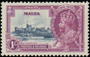 1935 Malta #184-187, Complete Set(4), Hinged