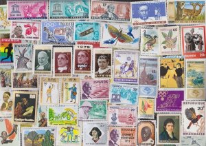 200 All Different RWANDA Stamps - ALL LARGE SIZED