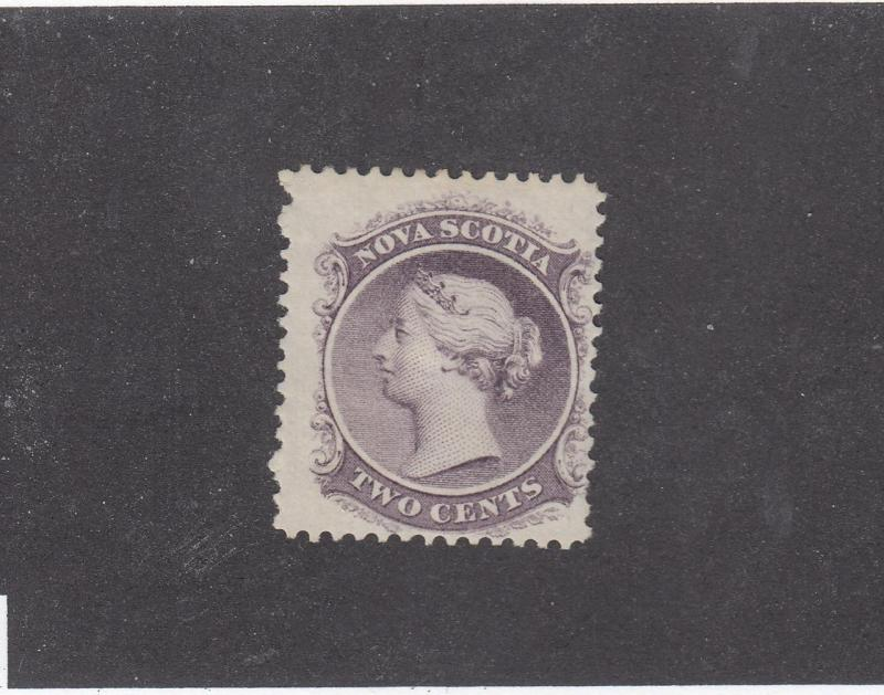 NOVA SCOTIA REF# KM11 # 9 FVF-MH 2cts QUEEN VICTORIA LILAC CAT VALUE $20
