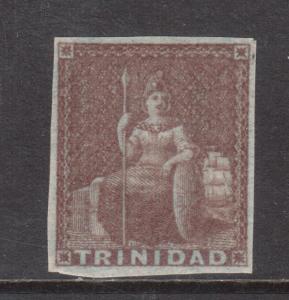 Trinidad #1a Very Fine Mint + Original Gum Lightly Hinged