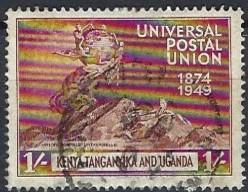 Kenya Tanganyka & Uganda    1949   UPU     1/-     used