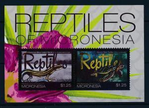 [34974] Micronesia 2011 Reptiles Skink Turtle MNH Sheet