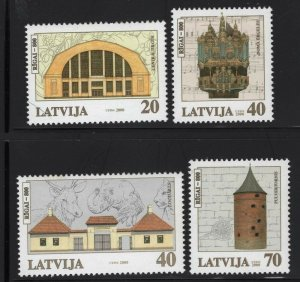 Latvia 2000 Riga 800th Anniversary set Sc# 508-11 NH