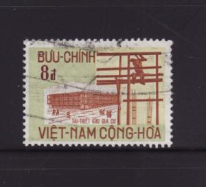 South Vietnam 377 U New Building and Scaffold
