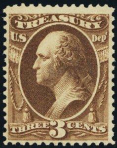 O74, Mint 3¢ VF OG NH Treasury Stamp With PFC - Stuart Katz