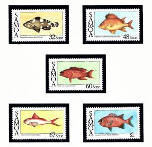 Samoa 680-84 MNH 1986 Fish