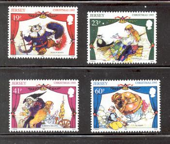 Jersey  Sc 732-5 1995 Christmas stamps mint NH
