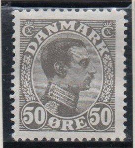 Denmark Sc 122 1922 50 ore light gray Christian X  stamp mint