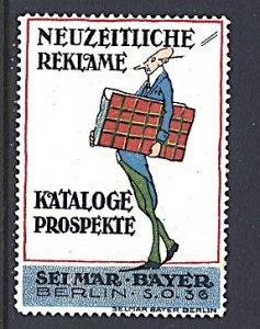 Germany Cinderella Selmar Bayer Berlin Advertising Poster Stamp Issuer