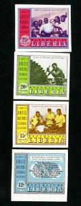 Liberia Stamps # C78-81 XF Imperf OG NH
