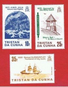 Tristan da Cunha #368-370  MNH OG  Shipwrecks Free S/H
