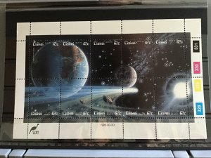 Africa Ciskei  1986 Space mint never hinged  stamps sheet R25135