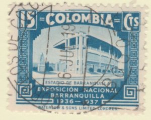 Colombia 1937 15c Fine Used A8P52F61