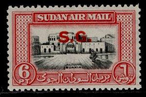 SUDAN GVI SG O65, 6p black & carmine, M MINT.
