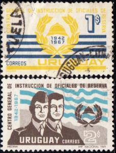 Uruguay #773-774 Used Set