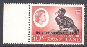 Swaziland Scott 157a - SG159, 1968 Independence 50c Sideways Watermark MH*