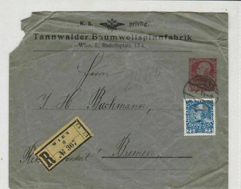 austria 1911  stamps cover ref 21224