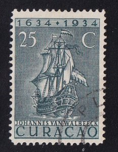 Netherlands Antilles  Curacao  #121  used  1934  anniv founding colony 25c