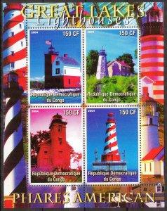 Congo 2004 Lighthouses (2) sheet MNH Cinderella !