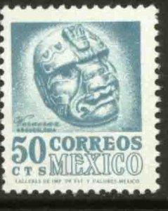 MEXICO 1091, 50¢ 1950 Defin 9th Issue Unwmkd Fosfo Glazed. MINT, NH. F-VF