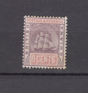 J26594  jlstamps 1889-1903 Br guiana  mh #139 ship lilac/rose wmk 2