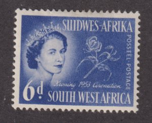 South West Africa 247 Queen Elizabeth II and Flowers 1953