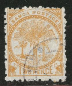 Samoa Scott  13b wmk 62 NZ star far apart CV$10 nice cancel