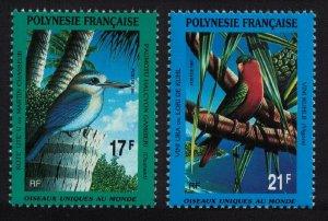 Fr. Polynesia Kingfisher Lory Protected Birds 2v SG#614-615