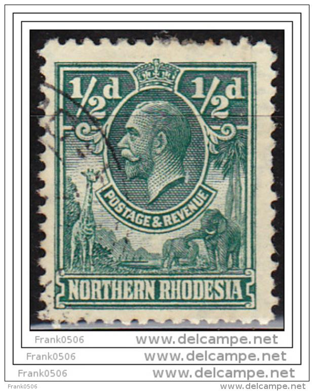 Northern Rhodesia 1925, KGV, 1/2d, used