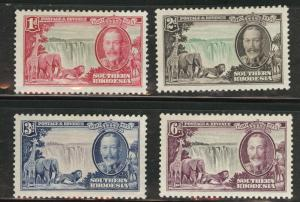 Southern Rhodesia Scott 33-36 MH*  1935 silver jubilee set
