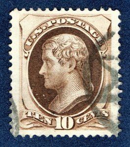 [0197] 1873 Scott#161 used 10¢ brown Large size