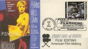 2003 American Filmmaking - Editing (Scott 3772h) Romp FDC