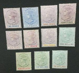 MOMEN: LAGOS SG #30-33,35-41 1887-1902 MINT OG H LOT #194333-2609