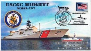 19-292, 2019,USCGC Midgett, Pictorial Postmark, Event Cover, WMSL-757
