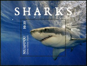 HERRICKSTAMP NEW ISSUES NIUAFO'OU Sharks S/S