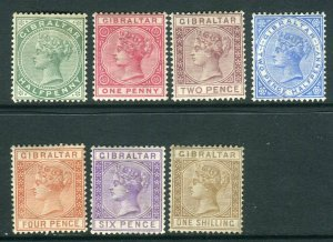GIBRALTAR-18896-87  A mounted mint set to 1/- Sg 8-14