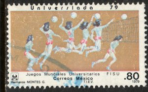 MEXICO 1187 Women's Volleyball University Games. Used. VF. (811)