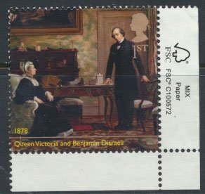 GB Used 2019 Queen Victoria Anniversary Ist vaalue -  Queen with Disraeli