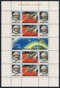 Guinea MNH S/S 393A Soviet Space Achievements Astronauts SCV 9.00
