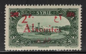 Alaouites 1928 2p on 1.25p Surcharged Definitive Sc# 47 NH