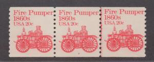 **US, SC# 1908 PNC, MNH, VF, Plate # Strip of 3, Line Pair #2, CV 35.00