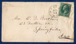 US Sc 158 Postal History Cover Hudson New York Cancel (1873):