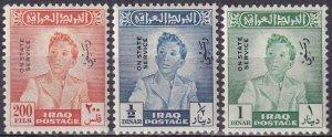 Iraq #O140-42 F-VF Unused  CV $57.75  (Z4514)