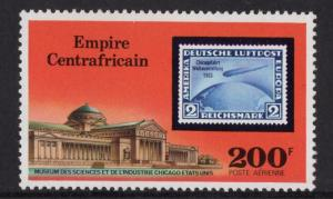 Central African Republic  #C185 Empire 1977 MNH  200fr Zeppelin