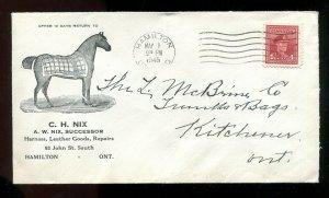 p937 - HAMILTON 1945 Nix Harness & Horse Equipment ILLUSTRATED Advertising Cover