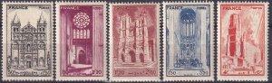 France #B185-9  F-VF Unused  CV $3.00 (Z3123)