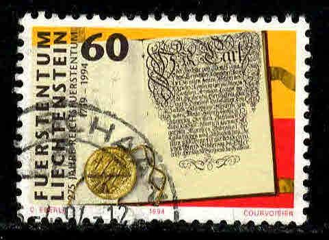 Liechtenstein # 1019 ~ Used, HMR ~ cv .75